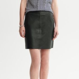 Banana Republic Leather Mini Skirt